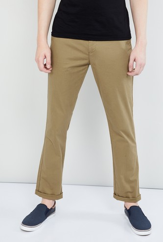 MAX Solid Regular Fit Chinos
