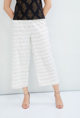 MAX Striped Elasticated Palazzos