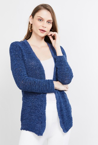 MAX Textured Full Sleeves Shrug