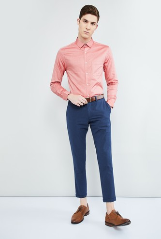 MAX Textured Slim Fit Formal Shirt