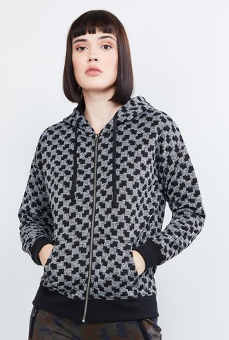 MAX Patterned Weave Hooded Jacket