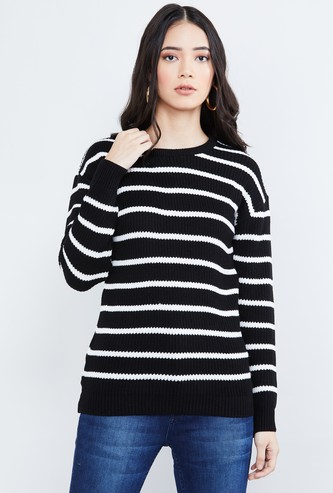 MAX Striped Long Sleeves Sweater