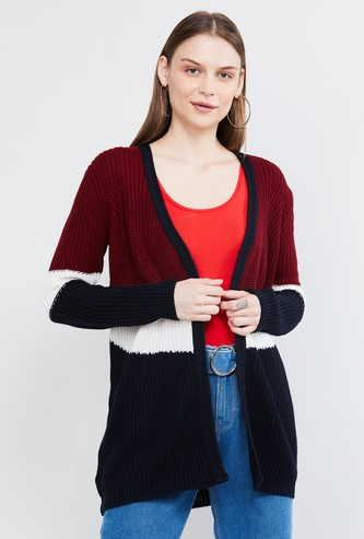 MAX Colourblocked Flat Knitted Cardigan