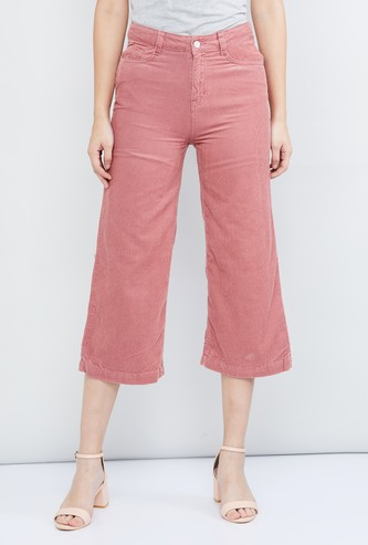 MAX Solid Denim Culottes
