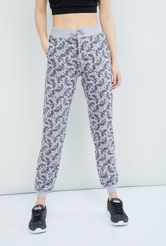 MAX Printed Knitted Joggers with Drawstring Detail