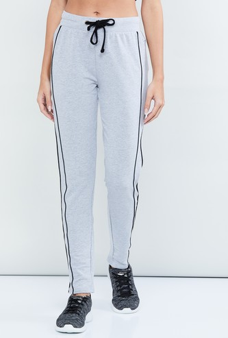 MAX Textured Tape-Detail Track Pants