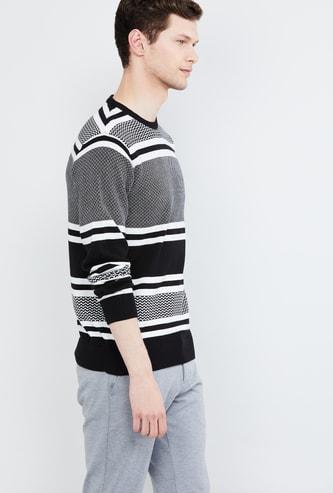 MAX Striped Crew Neck Sweater
