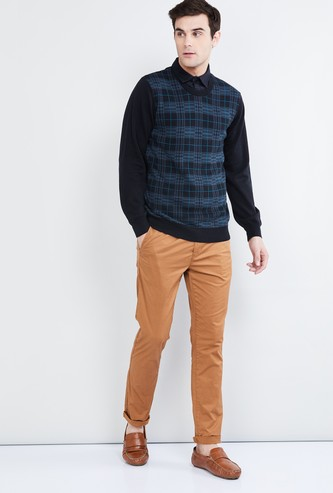 MAX Checked Crew-Neck Sweater