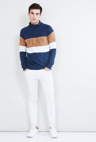 MAX Colourblock Cowl Neck Sweater