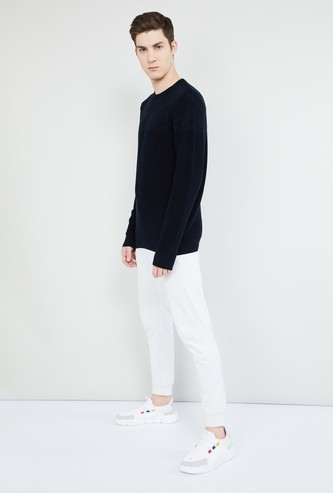 MAX Patterned Flat Knit Full Sleeves Sweater