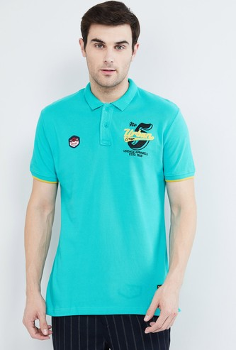 MAX Patch Printed Polo T-shirt