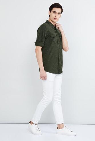 MAX Yarn Dyed Full Sleeves Casual Shirt