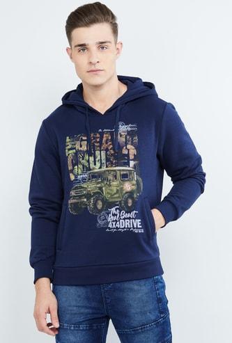 MAX Graphic Print Hooded Sweatshirt