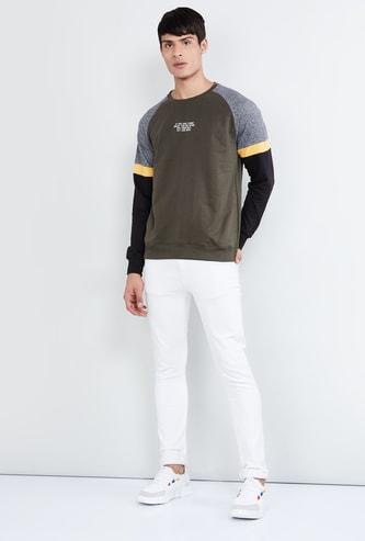 MAX Colourblock Raglan Sleeves Sweatshirt