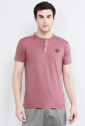 MAX Solid Short Sleeves Henley T-shirt