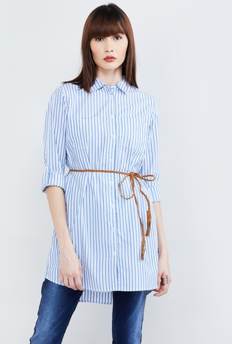 MAX Striped Full Sleeves Tunic