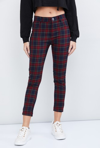 MAX Checked Cropped Pants