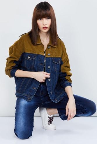 MAX Colourblock Denim Jacket