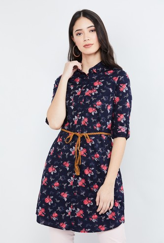 MAX Floral Print Full Sleeves Tunic