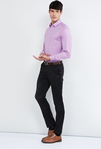 MAX Textured Full Sleeves Slim Fit Shirt
