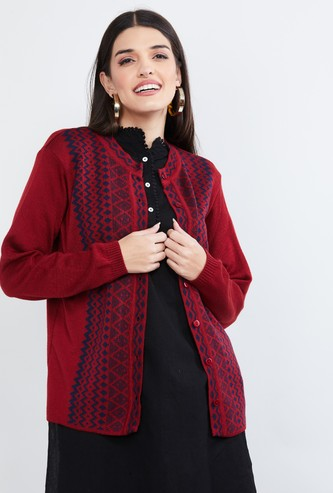 MAX Patterned Cardigan