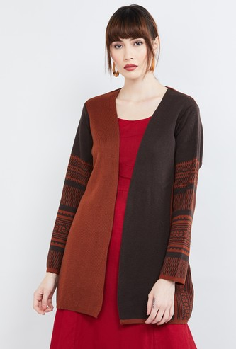 MAX Printed Colourblock Shrug