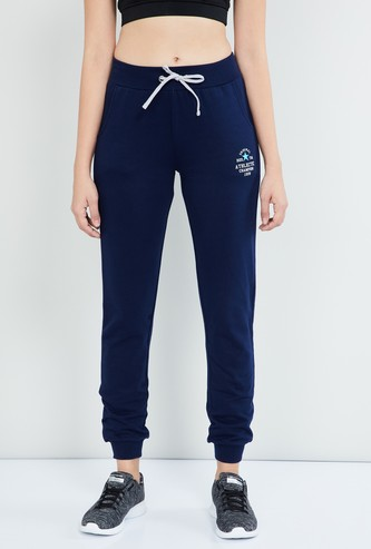 MAX Textured Joggers with Embroidered Detail