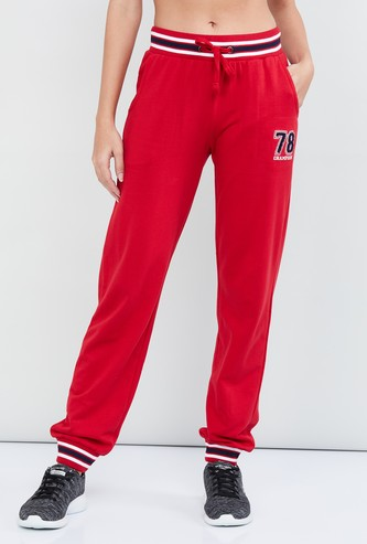 MAX Textured Joggers with Applique
