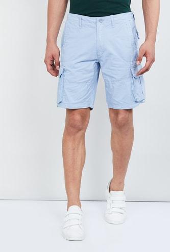 MAX Solid Cargo Pocket Shorts