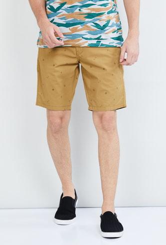 MAX Printed Flat-Front City Shorts