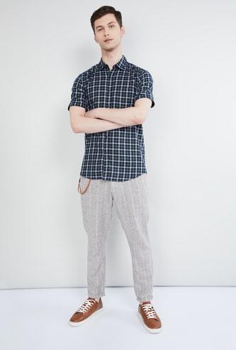 MAX Checked Short Sleeves Regular Fit Shirt