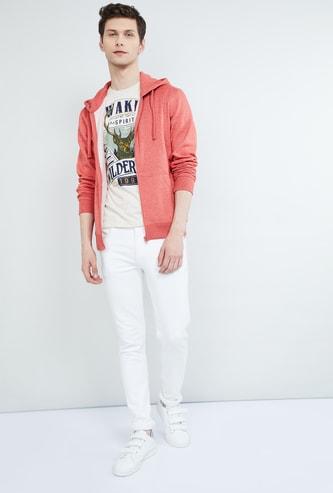 MAX Solid Hooded Zip-Up Sweatshirt