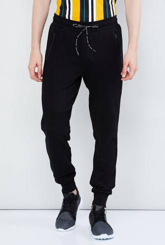 MAX Solid Joggers with Drawstring Waistband