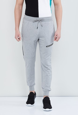 MAX Solid Knitted Joggers with Drawstring Waist
