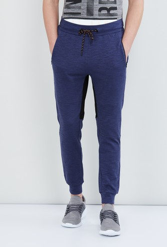 MAX Textured Joggers with Drawstring Waist