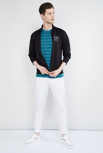 MAX Printed Zip-Closure Sweatshirt