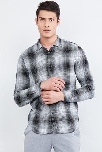 MAX Long Sleeves Slim Fit Checked Shirt