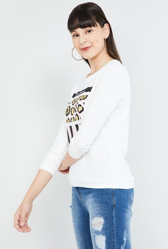 MAX Animal Print Full Sleeves Sweatshirt