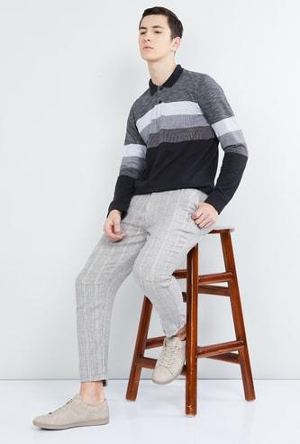 MAX Colourblocked Full Sleeves Polo T-shirt