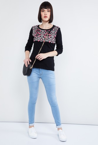 MAX Printed Full Sleeves T-shirt