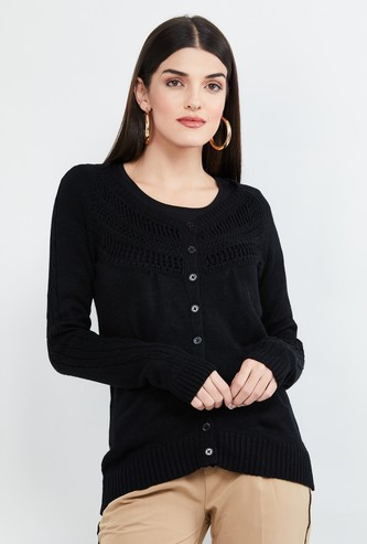 MAX Embroidered Textured Cardigan