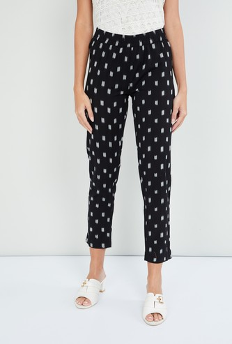 MAX Ikat Patterned Cropped Pants