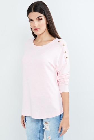 MAX Textured Full Sleeves T-shirt