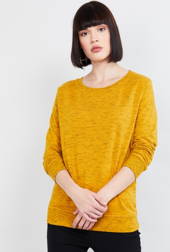 MAX Heathered Full Sleeves Top