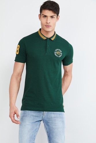 MAX Embroidered Short Sleeves Polo T-shirt