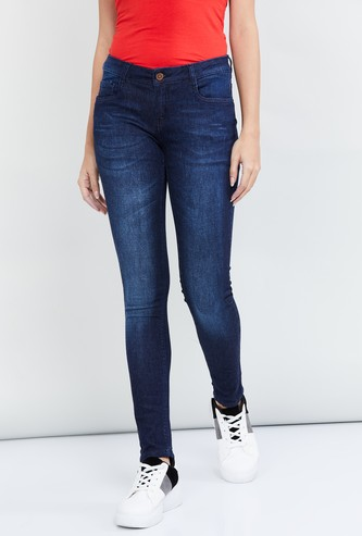 MAX Dark Washed Skinny Fit Jeans