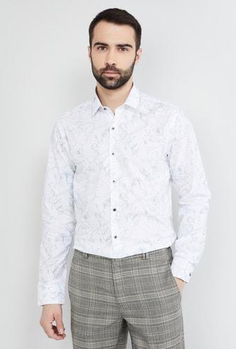 MAX Floral Print Slim Fit Formal Shirt