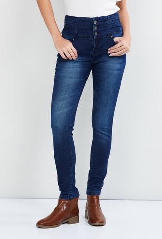 MAX Stonewased High-Waist Jeans
