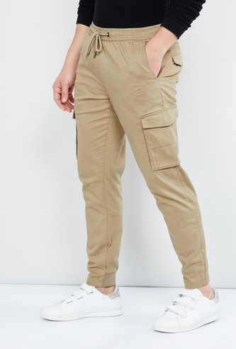 MAX Solid Elasticated Cargo Pants