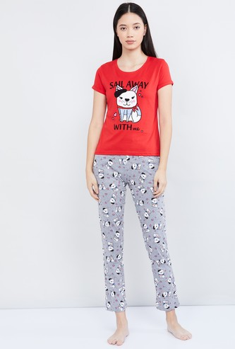 MAX Printed T-shirt and Track Pant